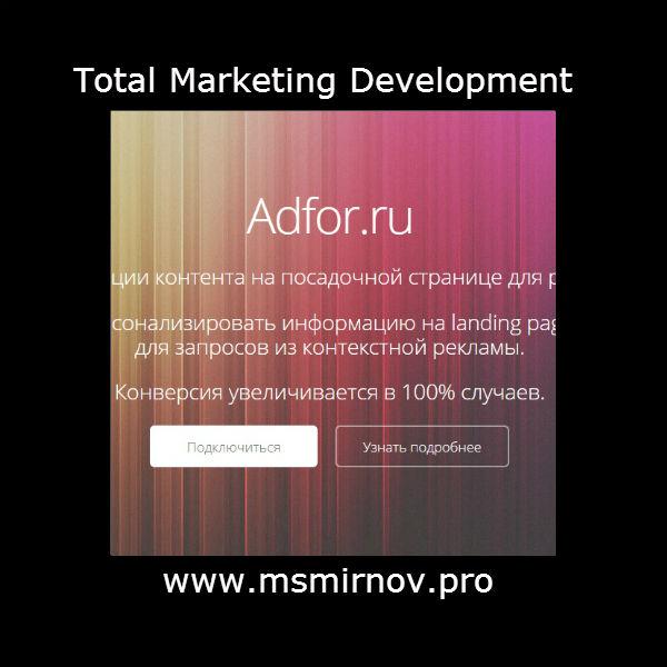 Анализ ЦА сайта adfor.ru